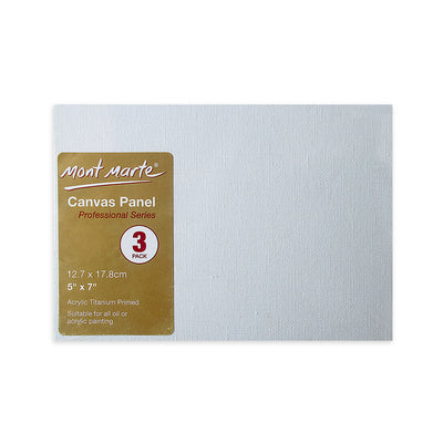 Mont Marte Professional Series Canvas Panel - 12.7x17.8cm, 3pc