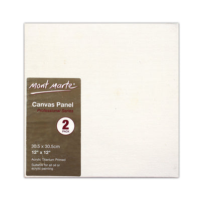 Mont Marte Professional Series Canvas Panel - 30.5x30.5cm, 2pc