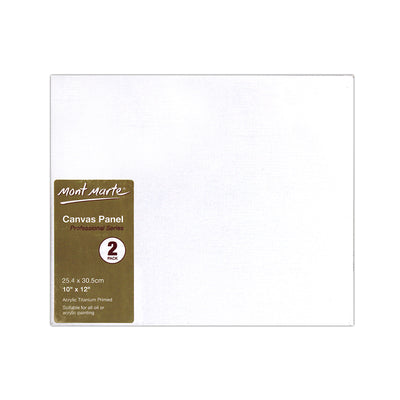 Mont Marte Professional Series Canvas Panel - 25.4x30.5cm, 2pc