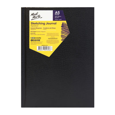 Mont Marte Signature Sketching Journal Croc Finish 150Gsm A5 Portrait 100 Page