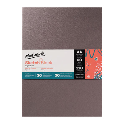 Mont Marte Signature Hard Cover Sketch Book A4 60 Sheets