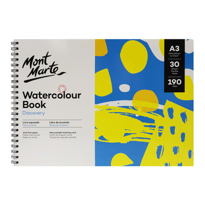 Mont Marte Discovery Watercolour Book A3, 190Gsm