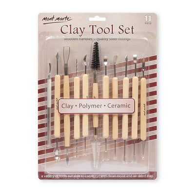 Mont Marte Clay Tool Set - 11 pc