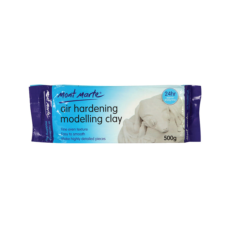 Mont Marte Air Hardening Modelling Clay - White, 500gm