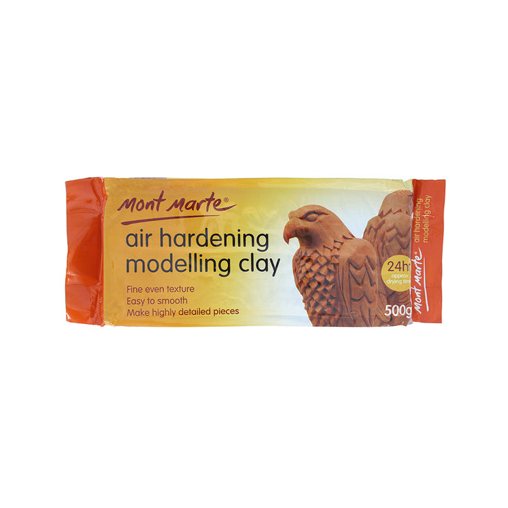 Mont Marte Air Hardening Modelling Clay - Terracotta, 500gm