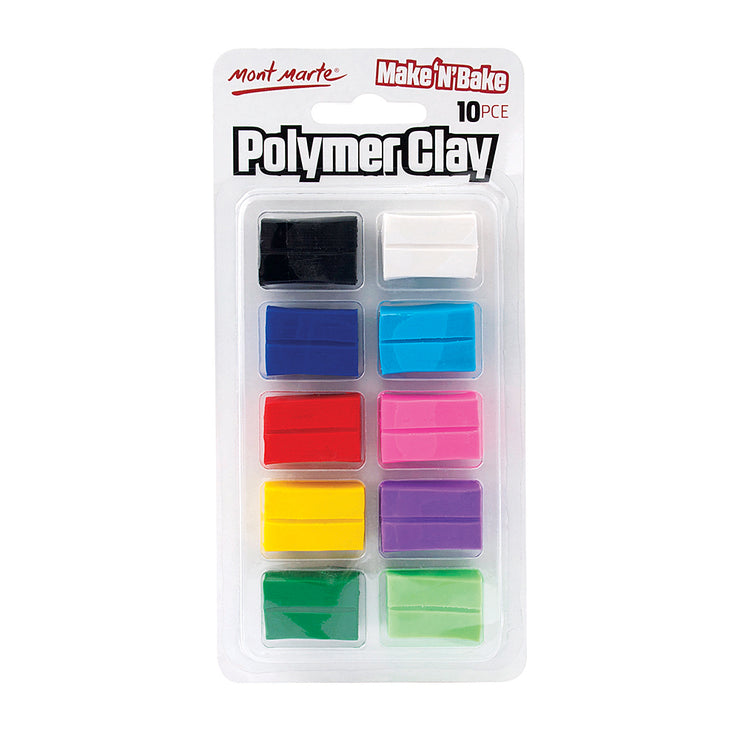 Mont Marte Make and Bake Polymer Clay - Assorted Colours