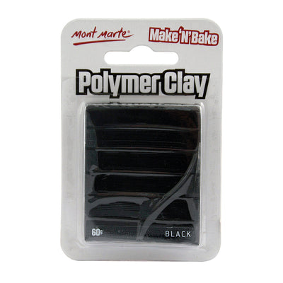 Mont Marte Make and Bake Polymer Clay - Black