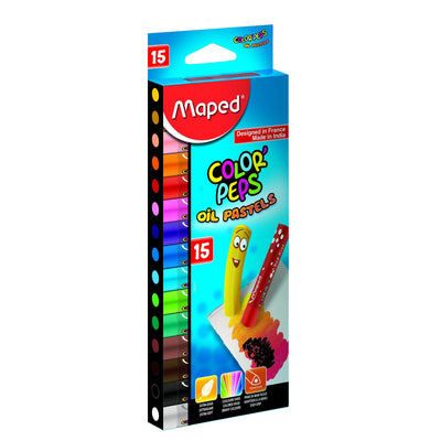 Maped Color'Peps Oil Pastels 15 Shades