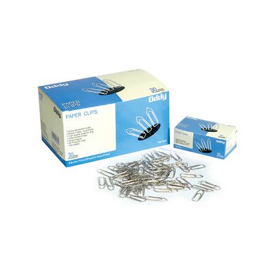 Paper Clips 100 pcs - Streamlined Shape