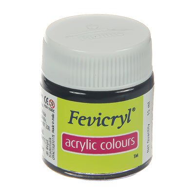 Fevicryl Acrylic Colours - Black, 15ml, 1pc