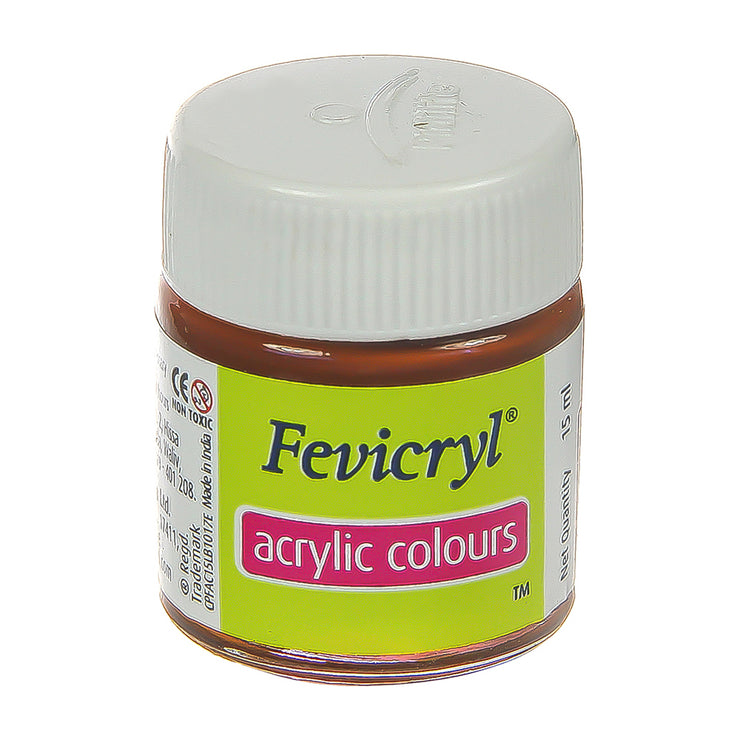 Fevicryl Acrylic Colours - Burnt Sienna, 15ml, 1pc
