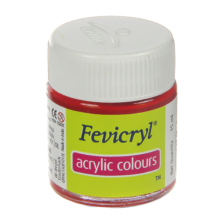 Fevicryl Acrylic Colours - Crimson, 15ml, 1pc