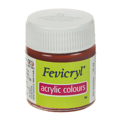 Fevicryl Acrylic Colours - Indian Red, 15ml, 1pc
