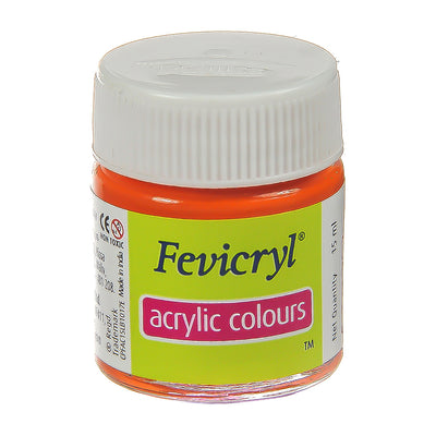 Fevicryl Acrylic Colours - Orange, 15ml, 1pc