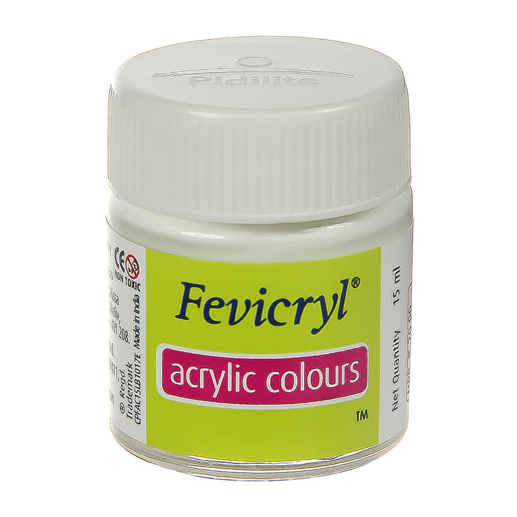 Fevicryl Acrylic Colours - White, 15ml, 1pc