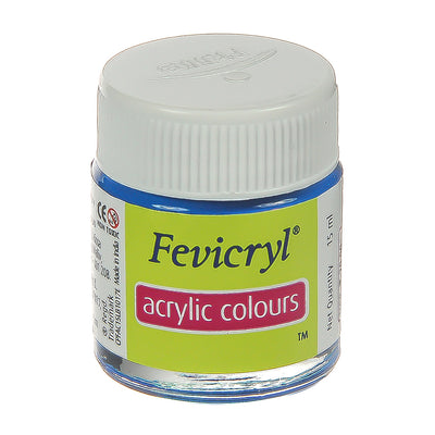 Fevicryl Acrylic Colours - Cerulean Blue, 15ml, 1pc
