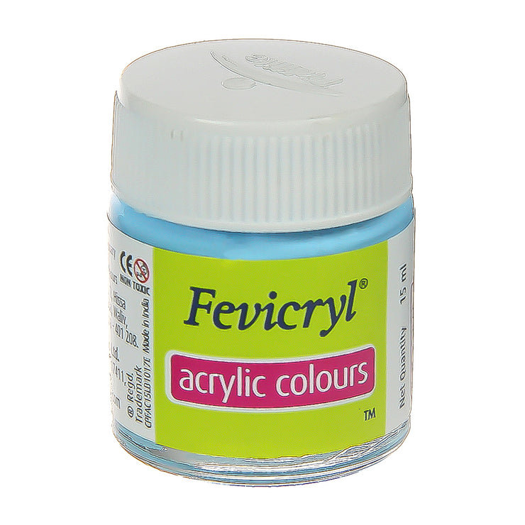 Fevicryl Acrylic Colours - Sky Blue, 15ml, 1pc