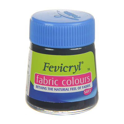 Fevicryl Fabric Colours - Black, 20ml, 1pc