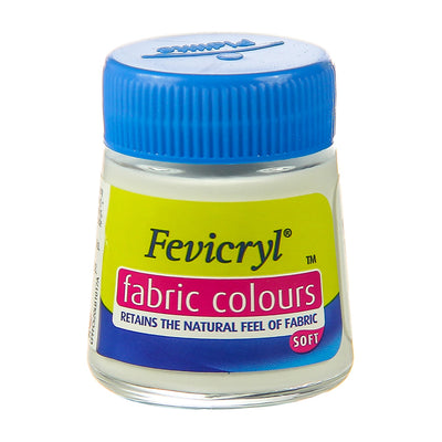 Fevicryl Fabric Colours - White, 20ml, 1pc