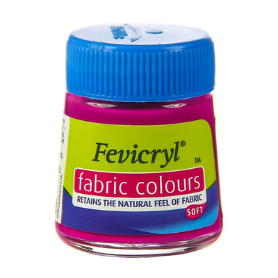 Fevicryl Fabric Colours - Deep Brilliant Purple, 20ml, 1pc