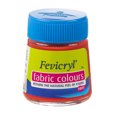 Fevicryl Fabric Colours - Coral Red, 20ml, 1pc