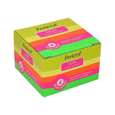 Fevicryl Neon Acrylic Colours Set - 4pc