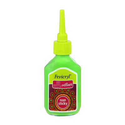 Fevicryl Non-sticky 3D Cone Outliner - Light Green, 20ml, 1pc