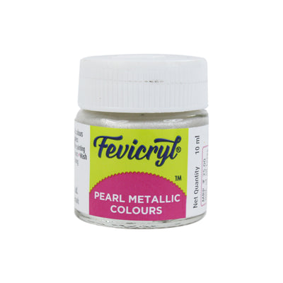 Fevicryl Pearl Metallic Colour 10Ml- Silver