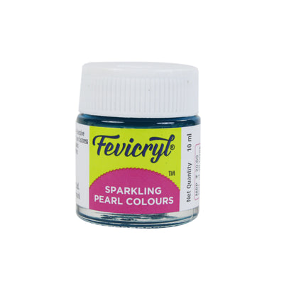 Fevicryl Sparkling Pearl Colour 10Ml- Turquoise Blue