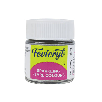 Fevicryl Sparkling Pearl Colour 10Ml- Silver