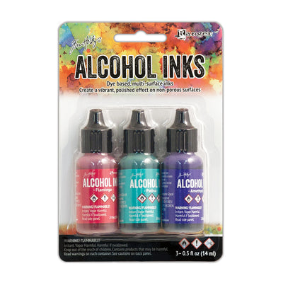 Tim Holtz Alcohol Ink Kits - Beach Deco, Set of 3pc