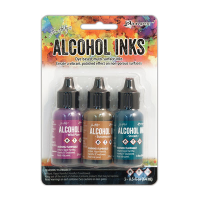 Tim Holtz Alcohol Ink Kits - Nature Walk, Set of 3pc