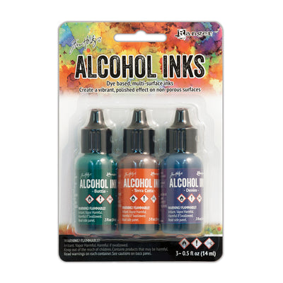 Tim Holtz Alcohol Ink Kits - Rustic Lodge, Set of 3pc
