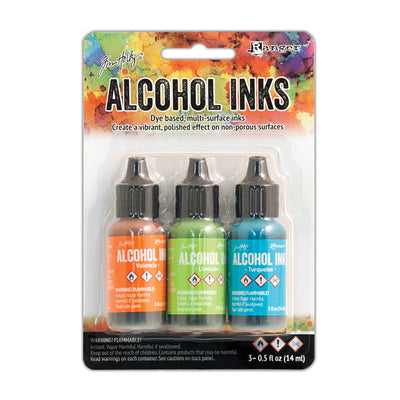 Tim Holtz Alcohol Ink Kits - Spring Break, Set of 3pc