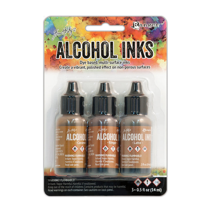 Tim Holtz Alcohol Ink Kits - Cabin Cupboard, Set of 3pc