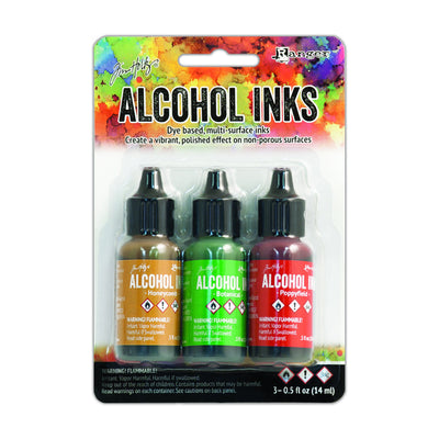 Tim Holtz Alcohol Ink Kits - Conservatory, Set of 3pc