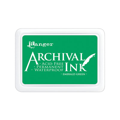 Ranger Archival Ink Pad - Emerald Green, 1pc