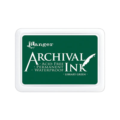 Ranger Archival Ink Pad - Library Green, 1pc