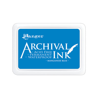 Ranger Archival Ink Pad - Manganese Blue, 1pc