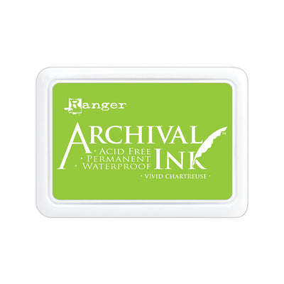 Ranger Archival Ink Pad - Vivid Chartreuse, 1pc