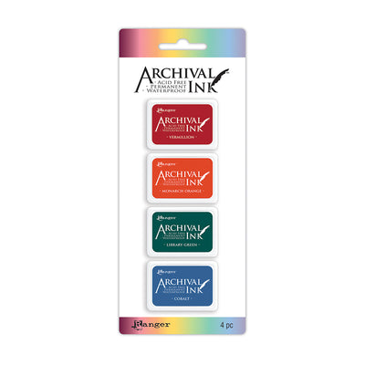 Ranger Mini Archival Ink Kit - Kit 1, 1.25in x 1.75in each, 4pc