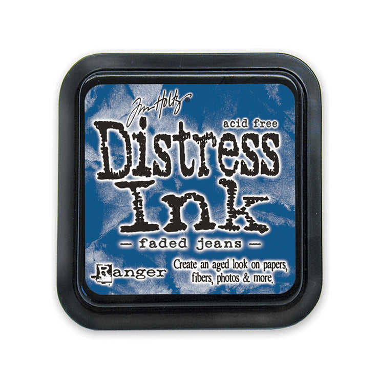Tim Holtz Distress Ink Pad - Faded Jeans, 3in x 3in, 1pc