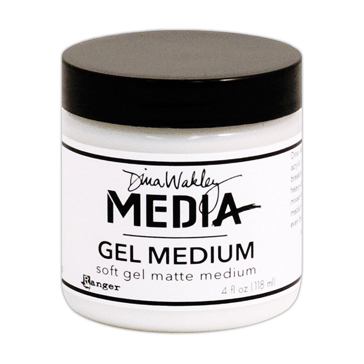 Dina Wakley Media - Soft Gel Matt Medium, 4oz, 1pc