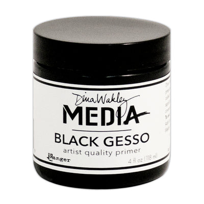 Dina Wakley Media - Gesso Black, 4oz, 1pc