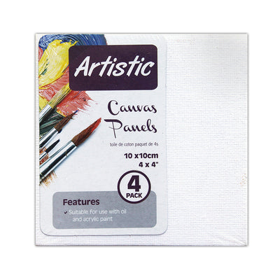 Artistic Canvas Panel- 10x10cm, 4pc