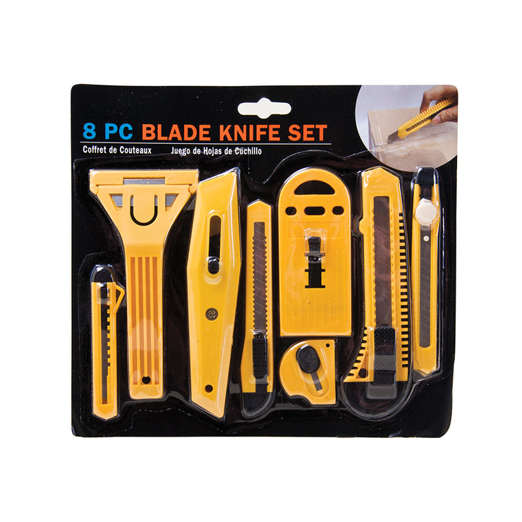 Blade Knife Set 8 pcs- Assorted sizes
