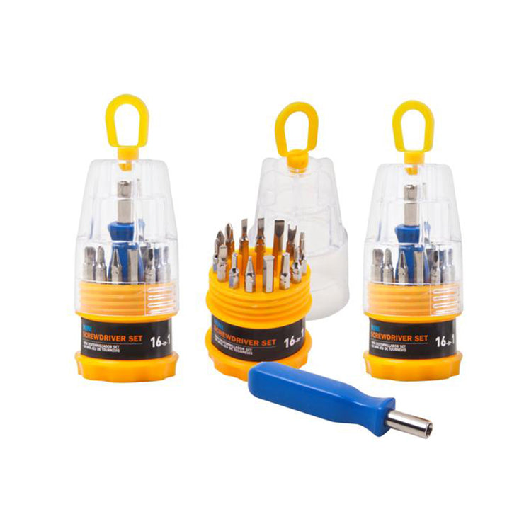 Mini Screwdriver Set with 16 Changeable Head Tips