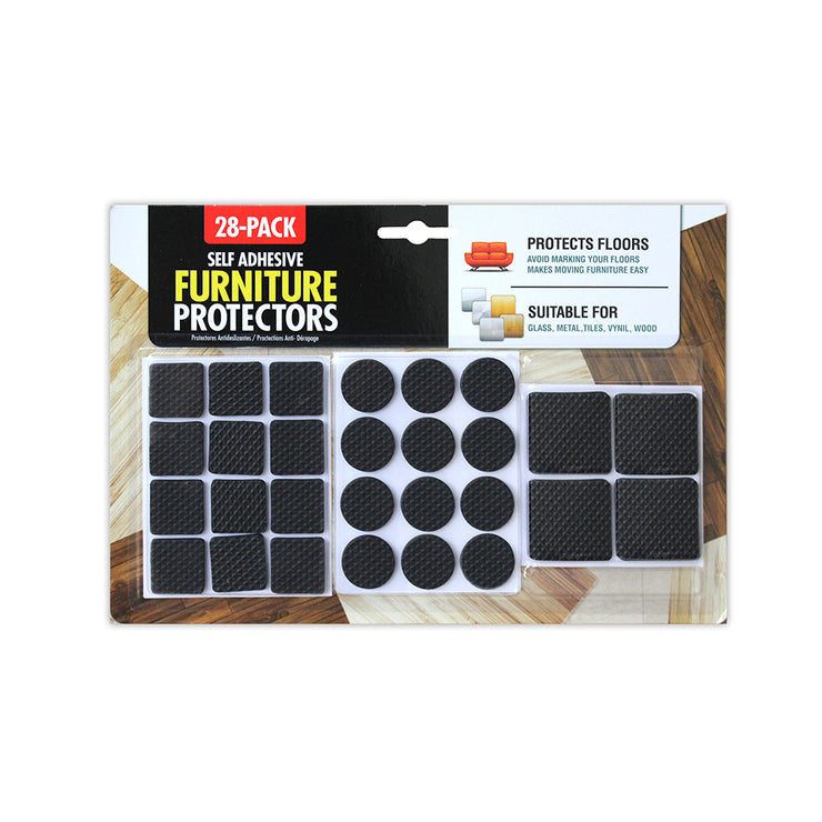 Furniture Protector- Black, 28 Pieces