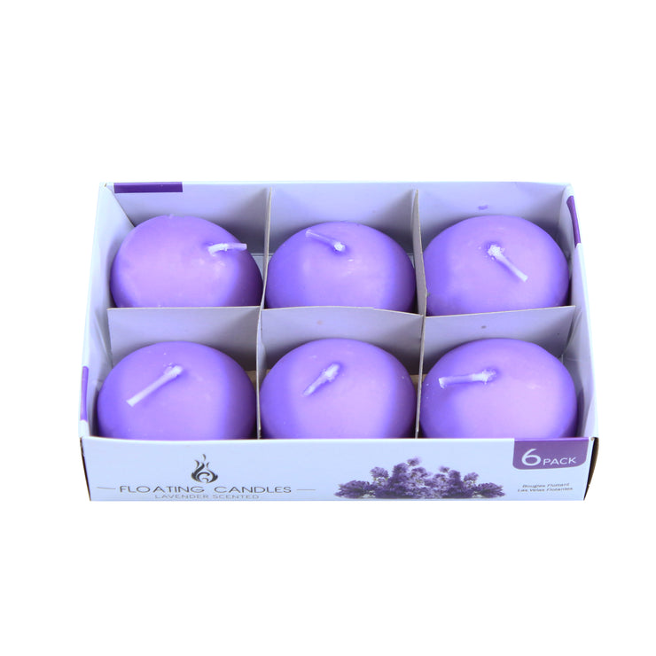 Floating Candle - Lavender, 6Pc