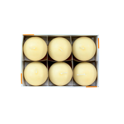 Floating Candle - Vanilla, 6Pc
